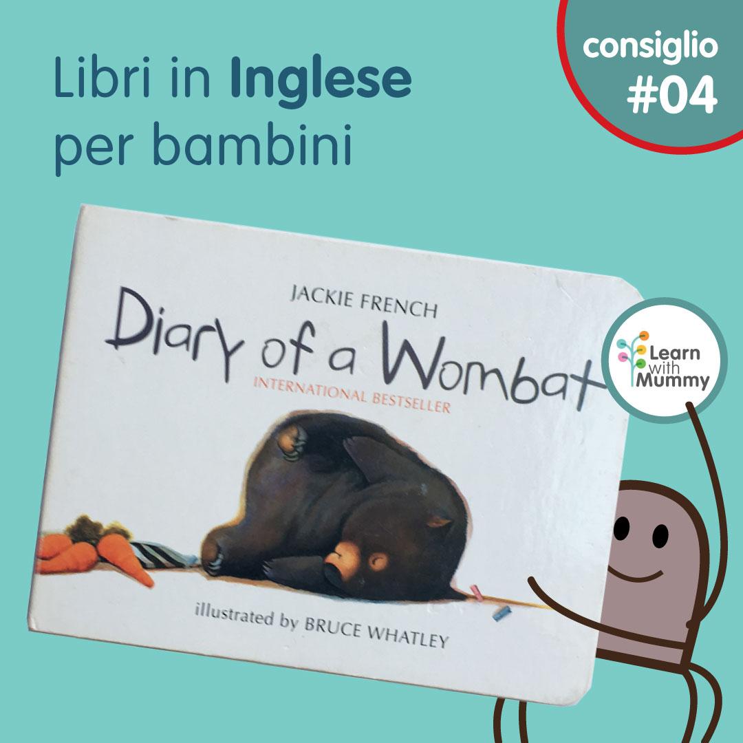 diary of a wombat libro inglese bambini