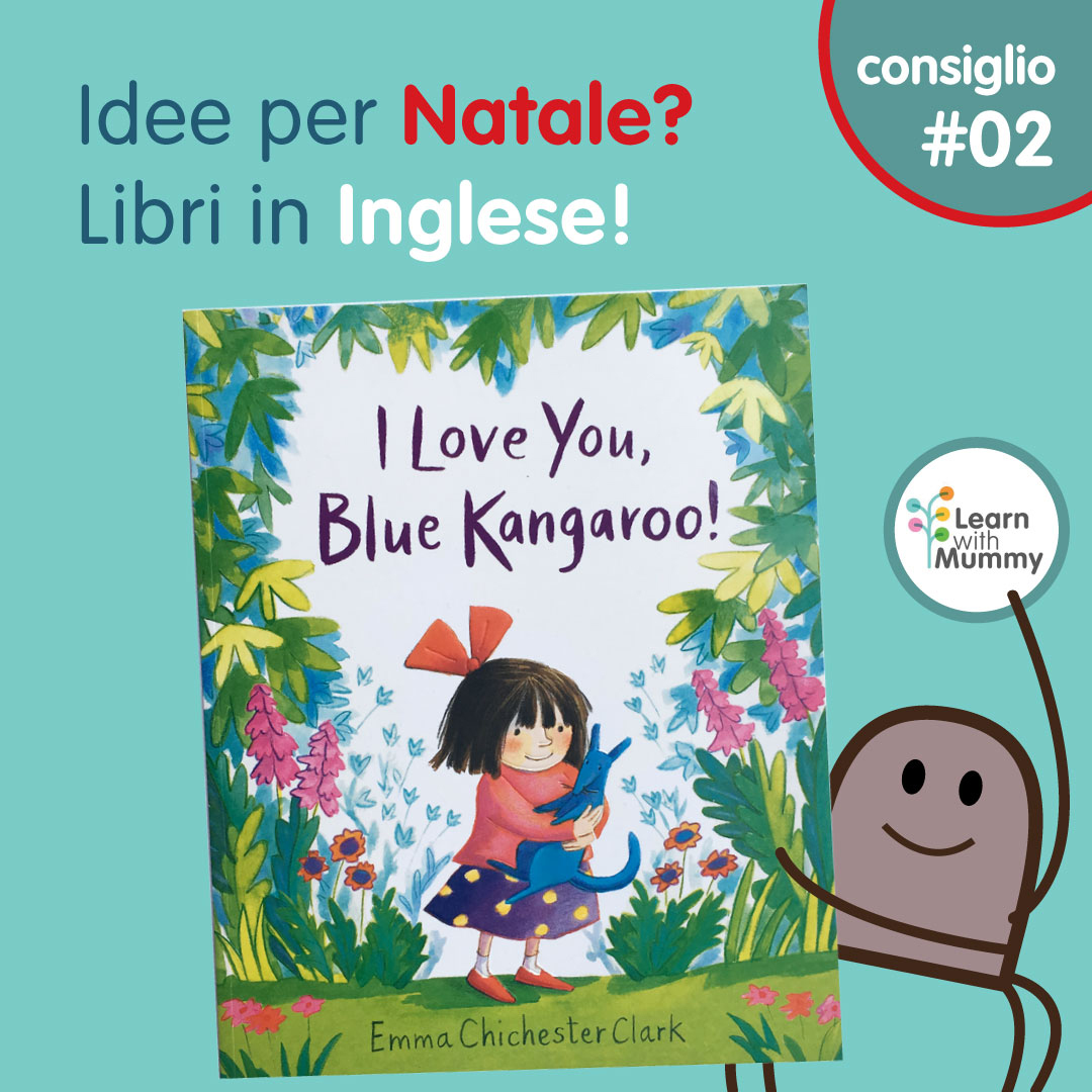 love you blue kangaroo inglese bambini condividere affetto