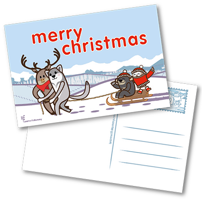 Biglietti Merry Christmas 10 pezzi