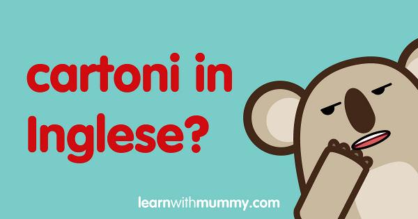 inglese bambini cartoni animati