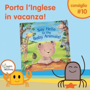 libro inglese bambini animali tattile