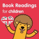 disegno di un leone con la scritta letture per bambini in inglese