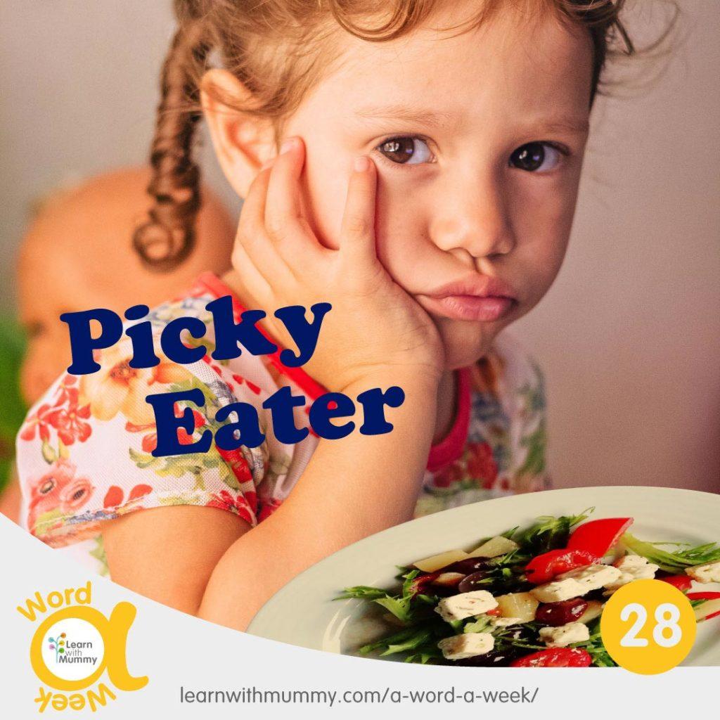 bambina-imbronciata-si-rifiuta-di-assaggiare-il cibo-e-scritta-in-inglese