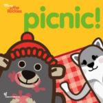 copertina del libro Picnic! della serie di Libri in inglese per bambini Learn with Mummy in the Rockies scritti da Letizia Quaranta illustrati da Ardoq