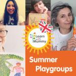 fotocollage delle teacher Learn with Mummy per si summer playgroup ovvero i corsi di inglese estivi per bambini