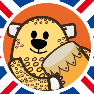 disegno di Ardoq che raffigura un leopardo con lo stile dei personaggi Learn with mummy per summer playgroup ovvero i corsi di inglese estivi per bambini online su zoom