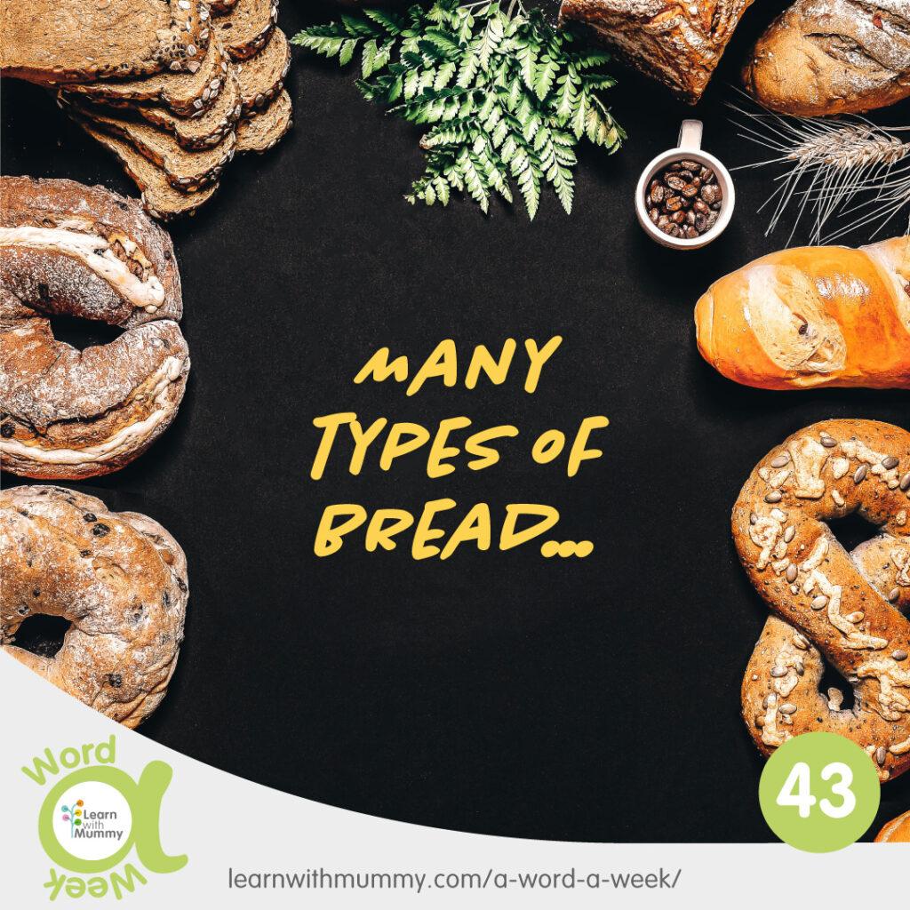 immagine di diversi tipi di pane nomi del pane in inglese