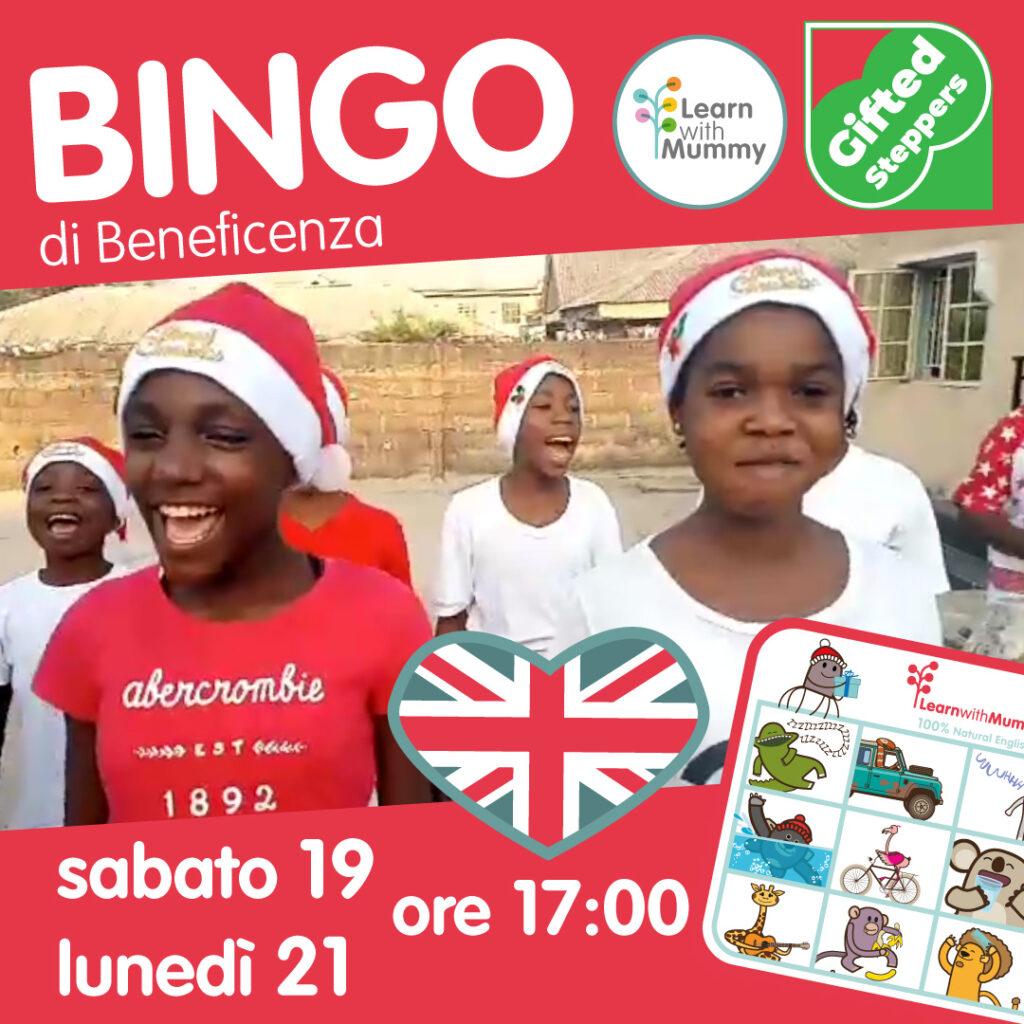 bingo in inglese tombola beneficenza per gifted steppers bambini nigeriani