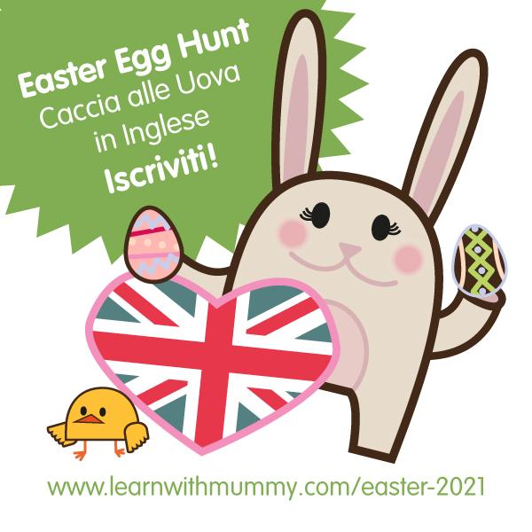 easter bunny per caccia alle uova o caccia al tesoro di pasqua